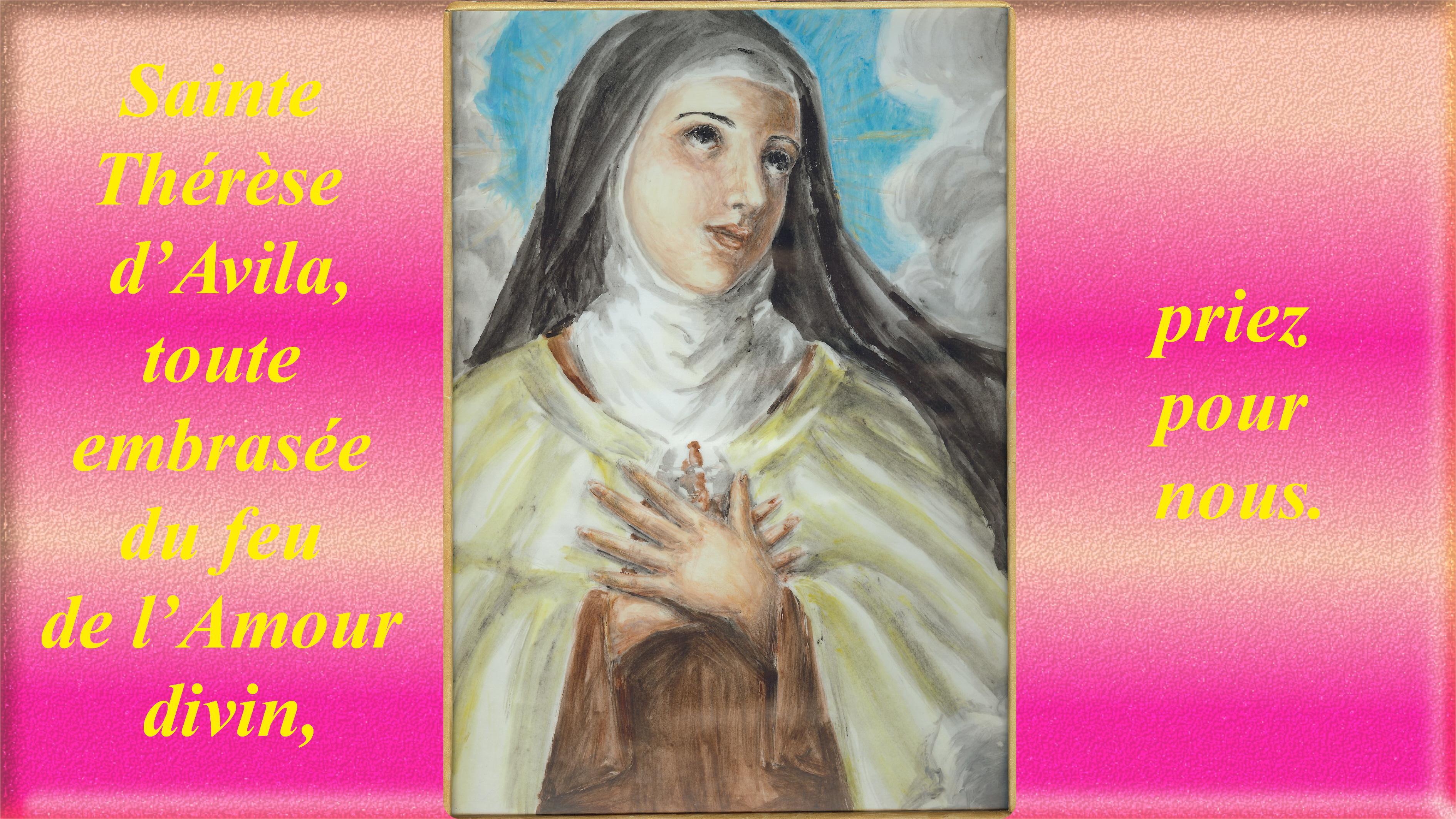 CALENDRIER CATHOLIQUE 2019 (Cantiques, Prières & Images) - Page 12 La-glorification-...-d-avila-56aa56e