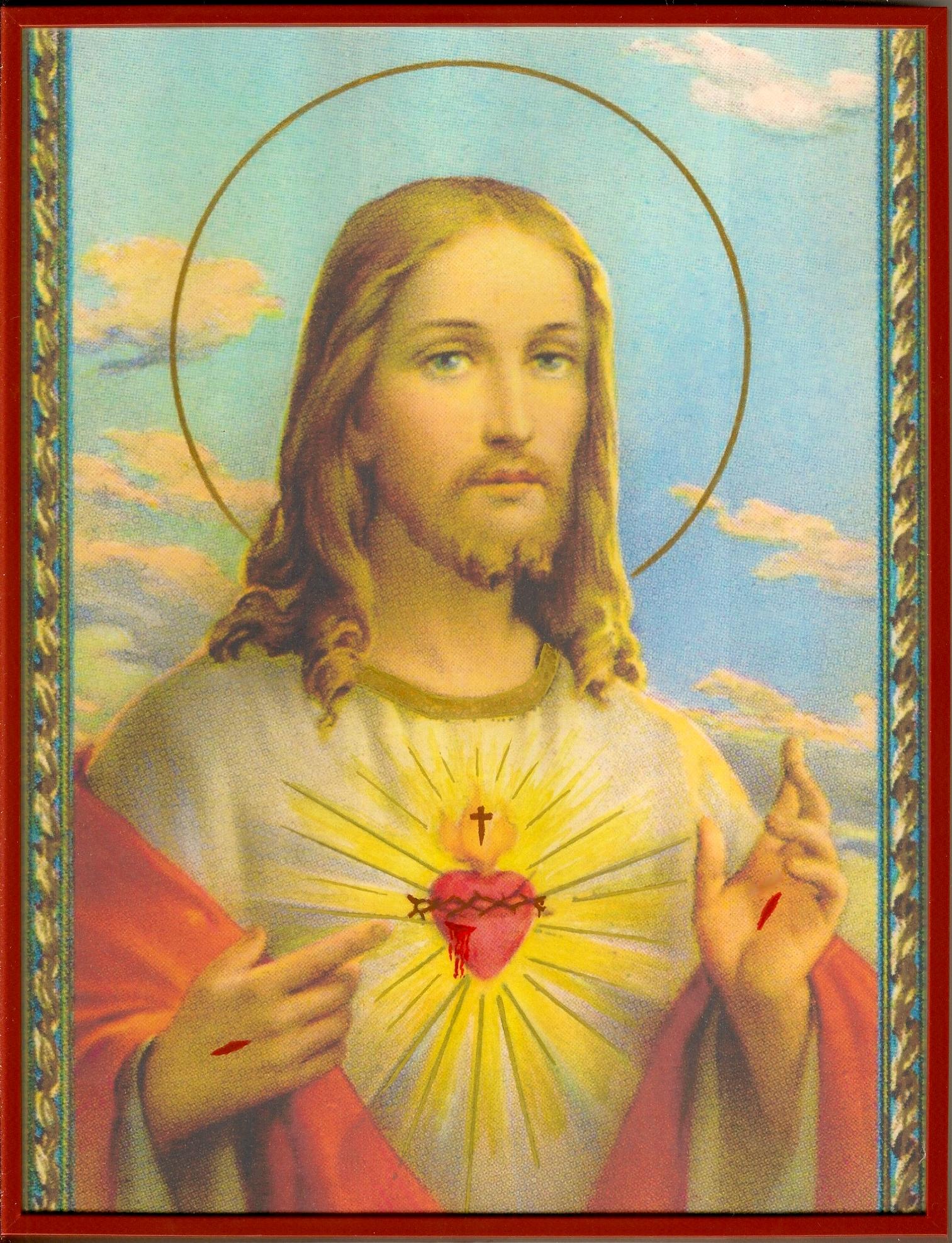 CALENDRIER CATHOLIQUE 2020 (Cantiques, Prières & Images) - Page 22 Cadre-du-sacr--coeur-579cc50