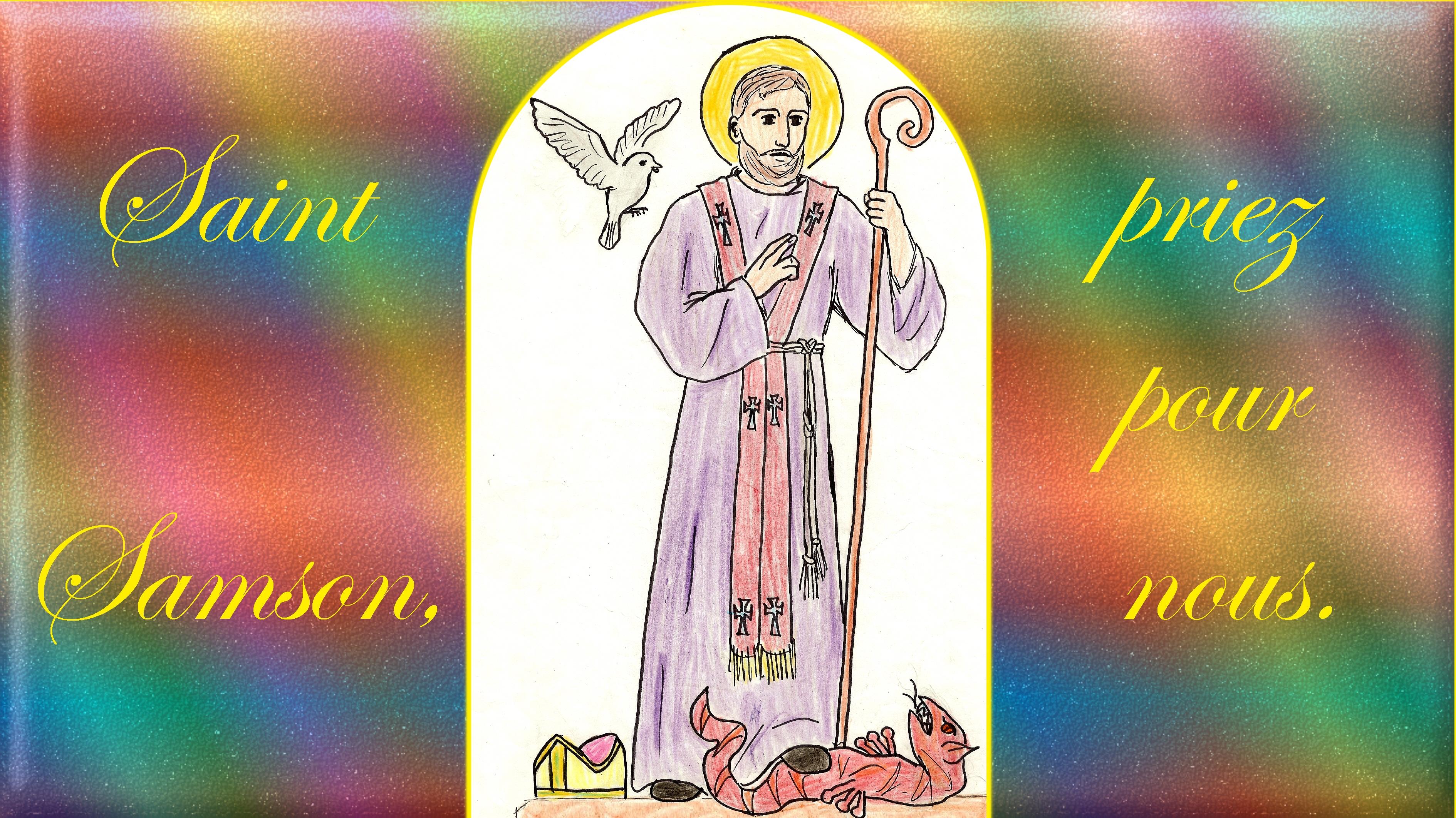 CALENDRIER CATHOLIQUE 2020 (Cantiques, Prières & Images) - Page 21 St-samson-57971d7