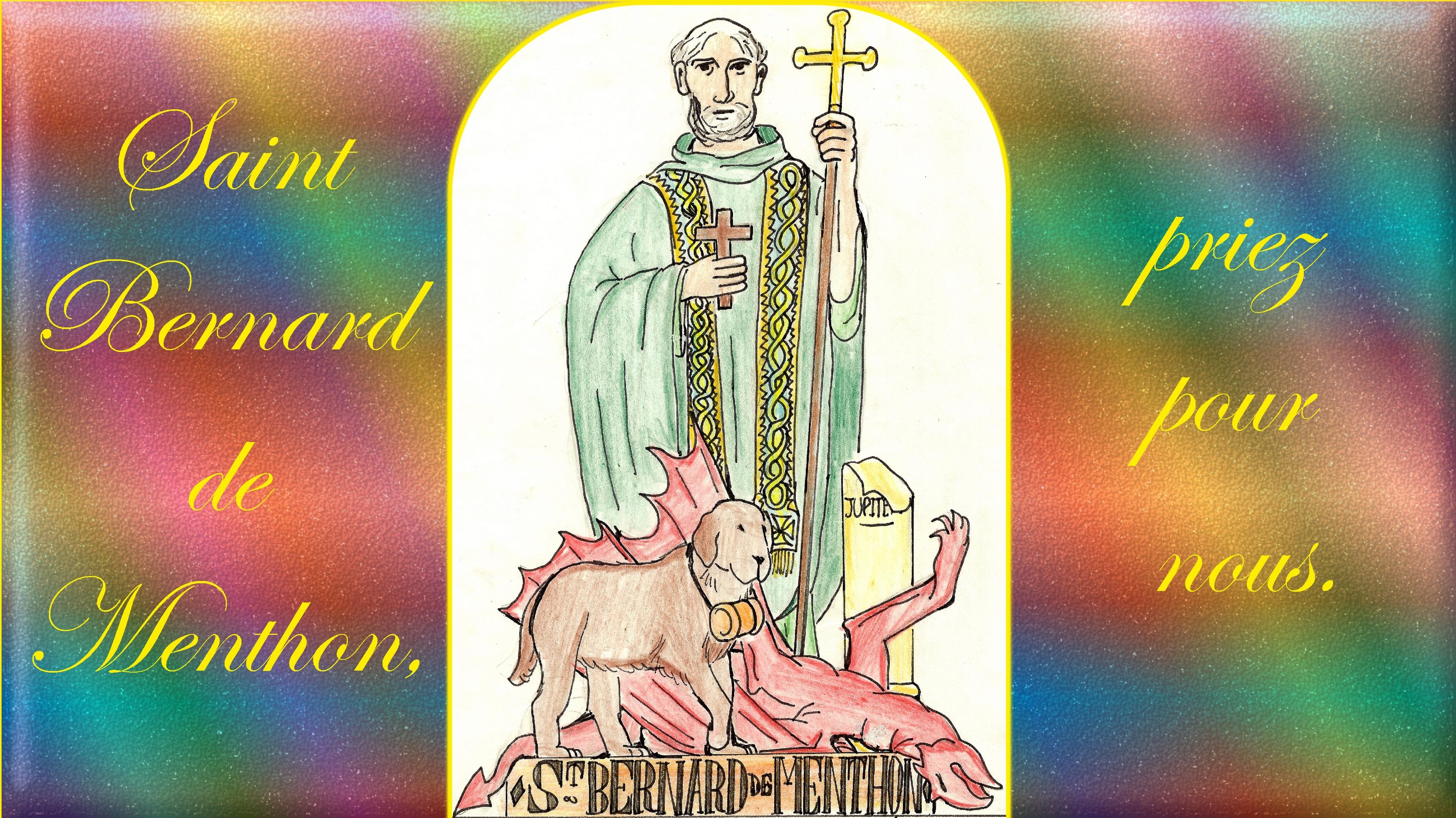 CALENDRIER CATHOLIQUE 2020 (Cantiques, Prières & Images) - Page 15 St-bernard-de-menthon-576b744